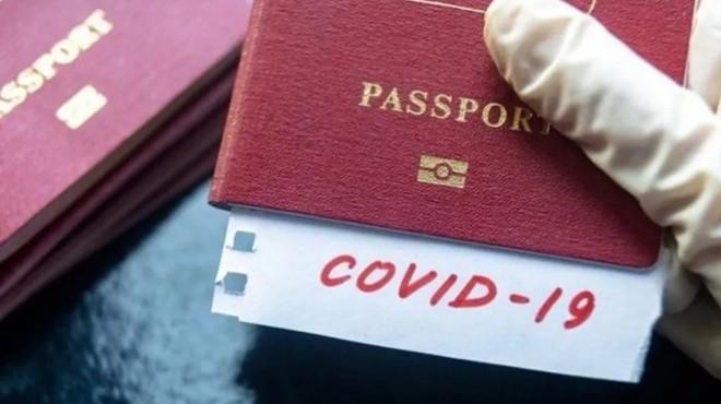 'COVID PASAPORT' KULLANIMDA
