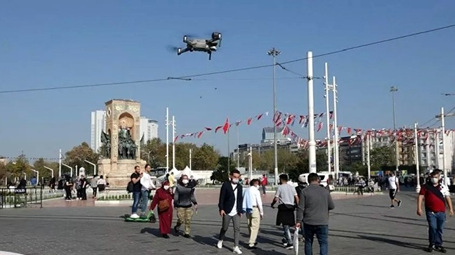 DRONE'LA MASKE DENETİMİ
